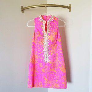 Lilly Pulitzer Pink Orange Alexa Shift Dress 0